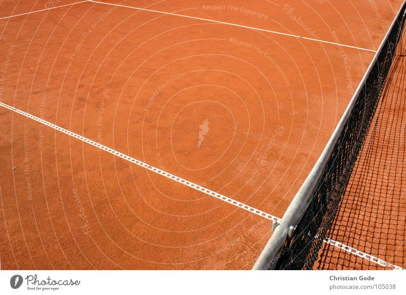 White Red Summer Sports Sand Line Earth Corner Net Tennis Ashes Dusty Ball sports Sand place