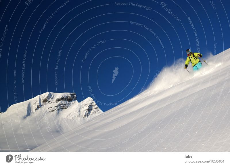 Freerider 3 Tourism Winter Snow Winter vacation Mountain Sports Winter sports Skis 1 Human being Environment Nature Landscape Cloudless sky Climate