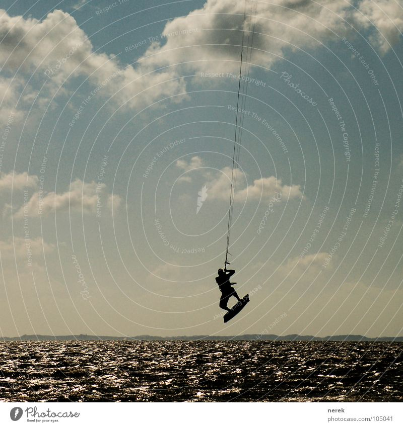 Vacation & Travel Ocean Beach Clouds Life Sports Playing Freedom Coast Style Leisure and hobbies Flying Free Rope Joie de vivre (Vitality) Sylt