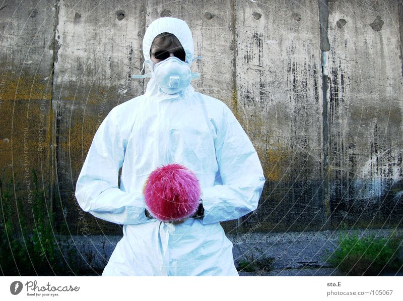 [b/w] seppuku Fellow Posture White Working clothes Quarantine Laboratory Laboratory assistant Cleaning Cleaner Feather duster Multicoloured Mask Sunglasses