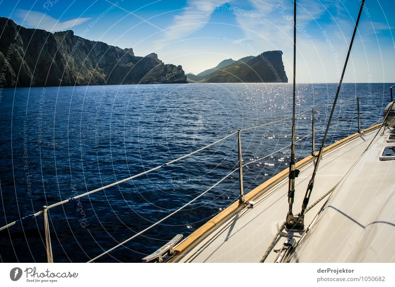 Mallorca from its beautiful side 65 - sailboat and coast Vacation & Travel Tourism Far-off places Freedom Cruise Summer vacation Environment Nature Landscape