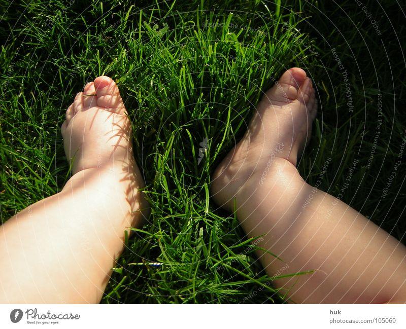 Child Nature Green Summer Dark Meadow Grass Small Garden Legs Feet 2 Bright Baby Skin Lawn