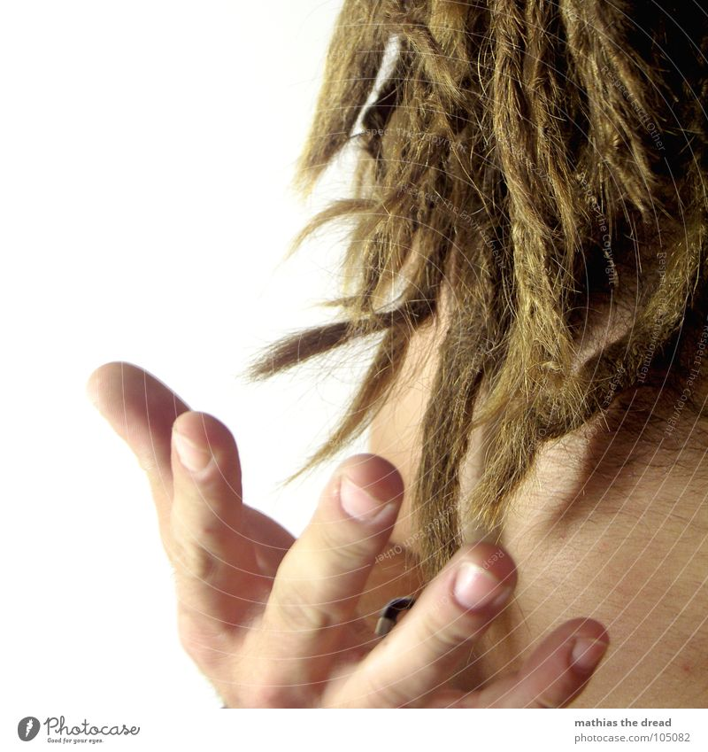 dreads Dreadlocks Hand Fingers Nail Fingernail Open Man Masculine Quaint Authentic dreadlock end Point Hair and hairstyles Catch Skin body hair Wild animal