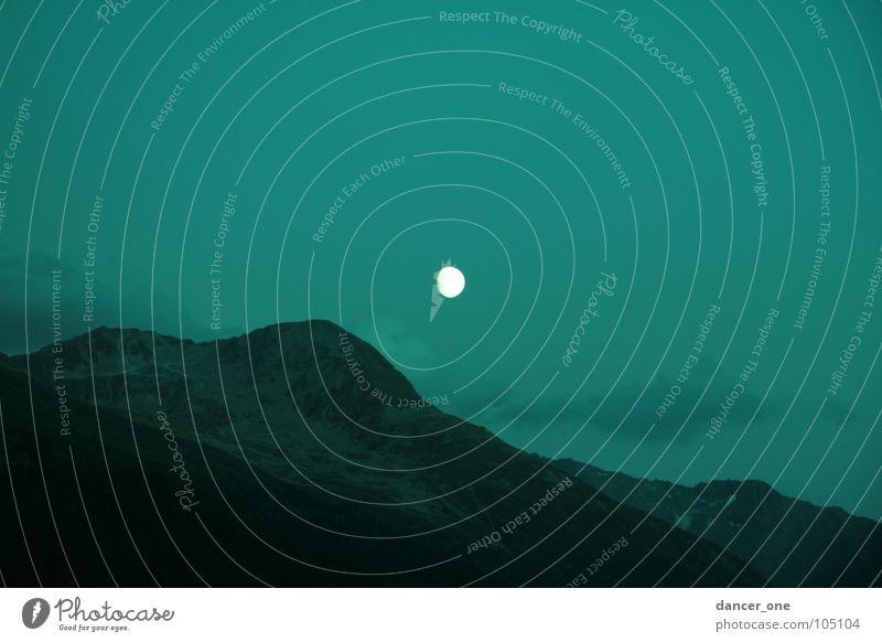 Mountain Romance Mysterious Idyll Moon Night Davos Moonrise
