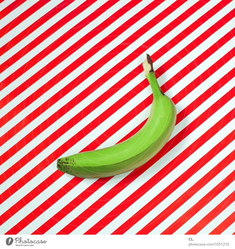 green Food Fruit Banana Nutrition Eating Organic produce Diet Healthy Healthy Eating Art Stripe Green Red White Esthetic Colour Whimsical Colour photo