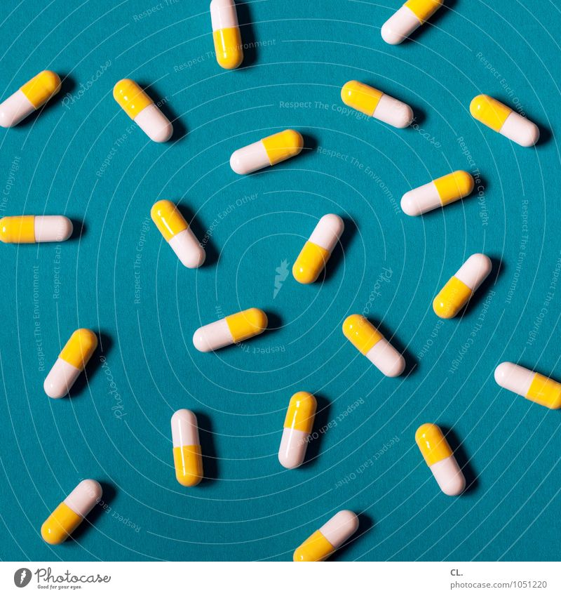 Blue White Yellow Healthy Health care Esthetic Illness Medication Pill Medical treatment Super Still Life