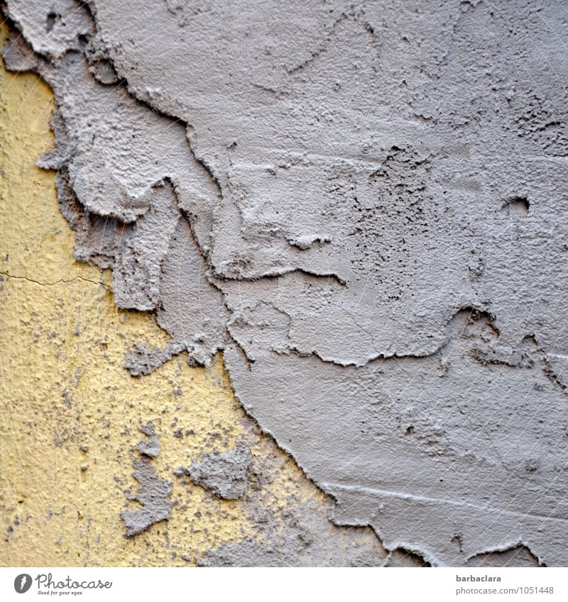 shift Craft (trade) Art Building Wall (barrier) Wall (building) Facade Mortar Plaster Stone Concrete Line Work and employment Broken Town Yellow Violet Colour