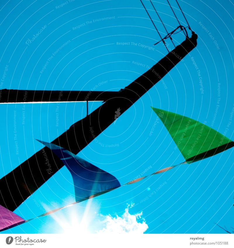 Sky Green Blue Sun Summer Black Feasts & Celebrations Wind Flag Club Electricity pylon Embellish Z