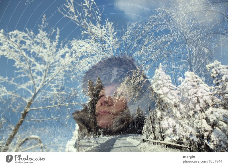 Winter joys: A portrait of a woman in a winter landscape Vacation & Travel Snow Winter vacation Hiking Human being Feminine Young woman Youth (Young adults)