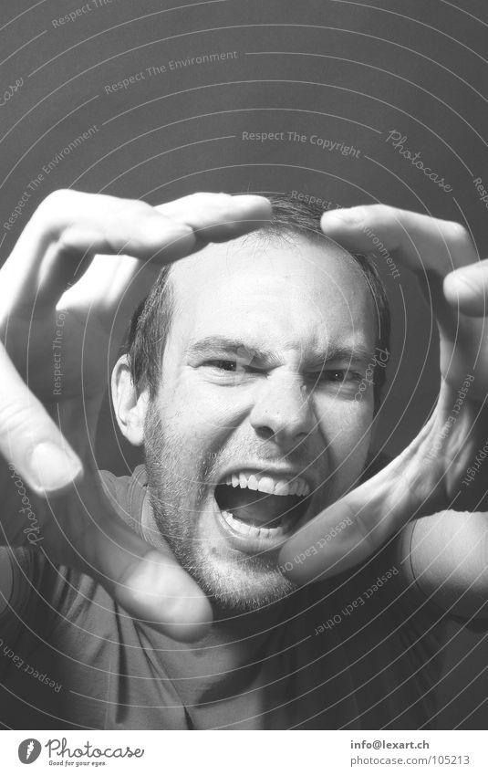 Human being Man Hand Adults Eyes Head Masculine Fingers Nose Teeth Ear Scream Bite