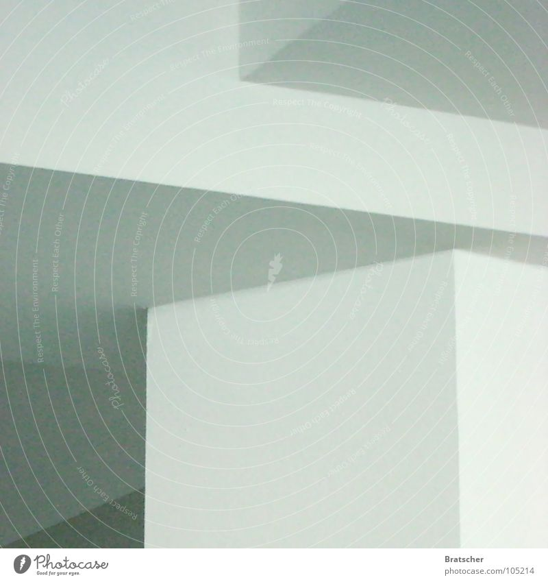 Constructivism LI Sharp-edged Corner White Gray Shadow play Simple Structures and shapes Smooth Calm Mathematics Detail Concentrate Art Culture Column