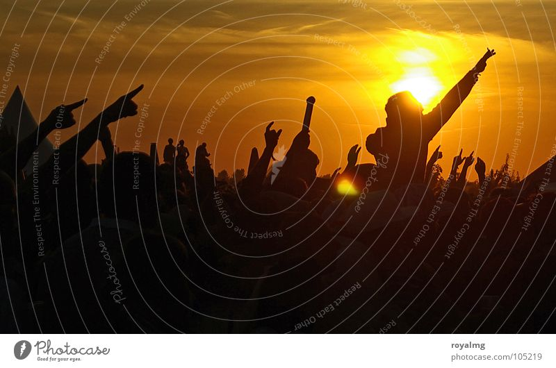 Human being Hand Youth (Young adults) Sky Sun Summer Joy Yellow Dark Party Emotions Music Happy Warmth Moody Dance