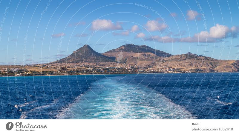 Porto Santo Vacation & Travel Tourism Trip Adventure Far-off places Sightseeing Cruise Elements Earth Water Sky Clouds Summer Beautiful weather Hill Volcano