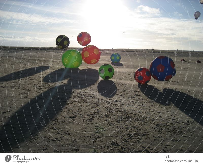 SUNBALL Beach Horizon Leisure and hobbies Playing Summer Sun Ball Dragon Back-light Shadow play Foot ball Many Multicoloured Floating Hover Large Small Deserted