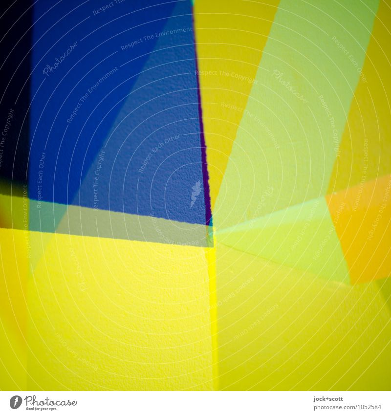 sloppy Style Design Illustration Decoration Corner Structures and shapes Sharp-edged Simple Uniqueness Modern Crazy Blue Yellow Power Agreed Purity Colour