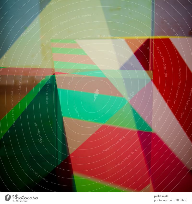 Maser colour space Design Illustration Decoration Stripe Geometry Structures and shapes Esthetic Sharp-edged Hip & trendy Uniqueness Positive Optimism Agreed