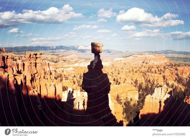 Sky Nature Vacation & Travel Landscape Far-off places Stone Rock Horizon Orange Vantage point USA Desert Wanderlust Americas Bizarre Surrealism