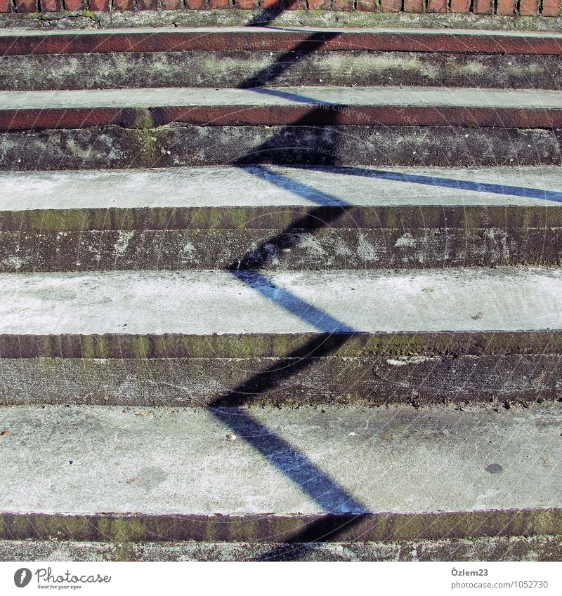 zigzag Design Playing Trip Deserted Flexible Life Stairs Shadow Level Subdued colour Exterior shot Sunbeam