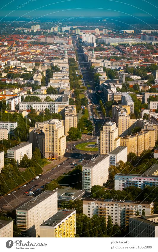 cardinal direction Sightseeing City trip Architecture GDR Nostalgia for former East Germany Classicism Sky Summer Beautiful weather Friedrichshain