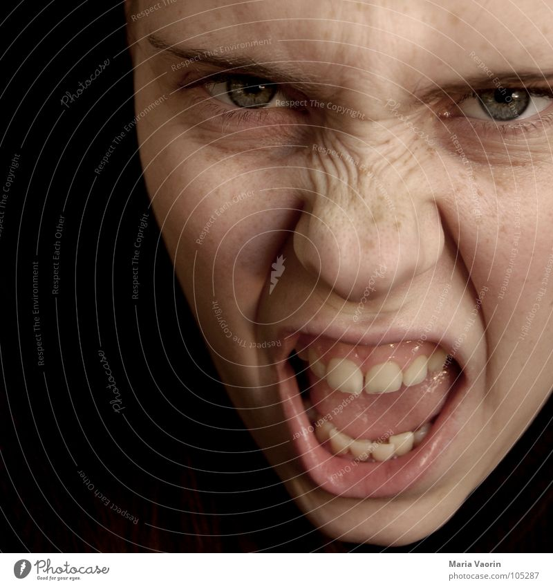 Woman Power Dangerous Anger Scream Force Evil Freak Aggravation Aggression Hatred Frustration Attack Adjectives Perturbed
