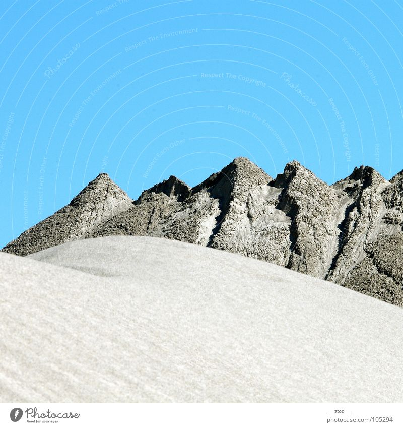 Sky Blue Summer Yellow Mountain Warmth Sand Desert Clean Physics Clarity Hill Minimal