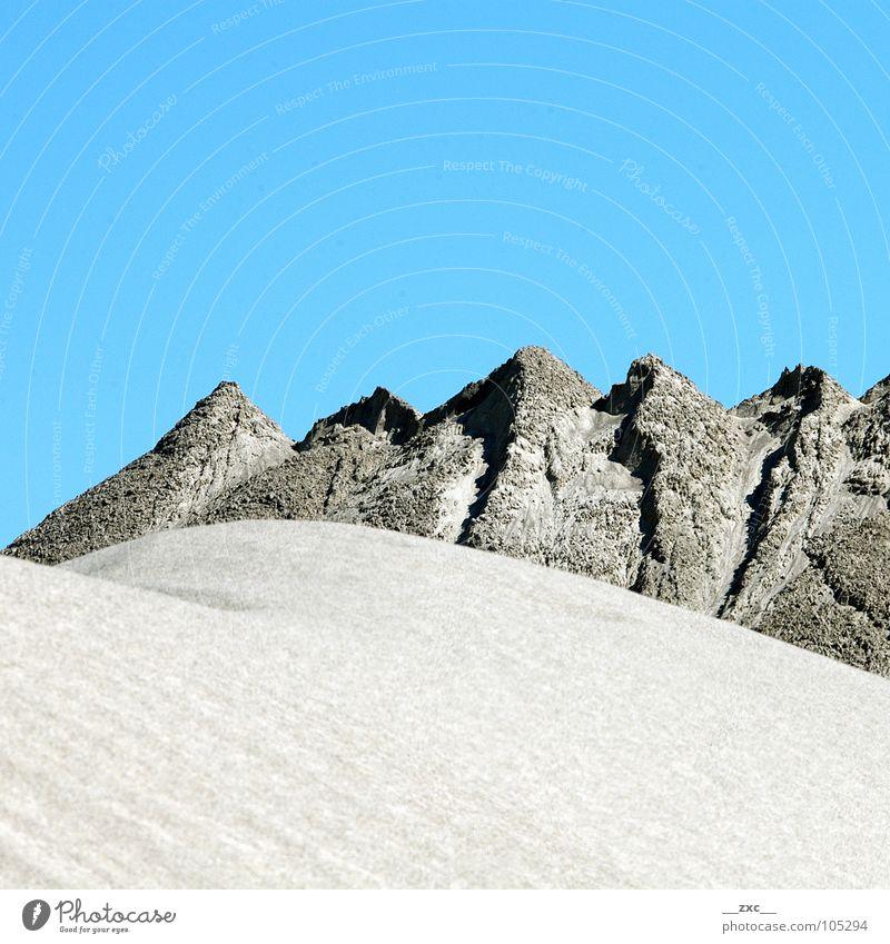 Sky Blue Summer Yellow Mountain Warmth Sand Desert Clean Physics Clarity Hill Minimal
