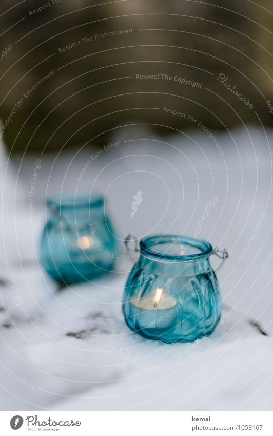 All the small things (4) Glass Lifestyle Winter Snow Living or residing Decoration Tea warmer candle Candle Candlelight Light Glittering Cold Beautiful