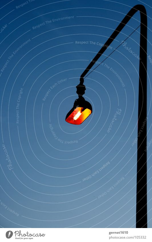Blue Lamp Dark Lighting Orange Industry Lantern Street lighting