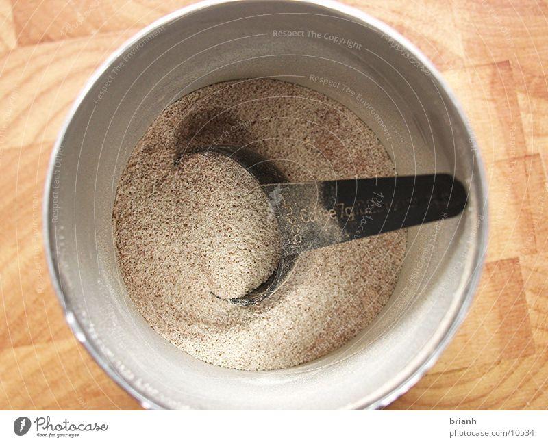 Nutrition Round Beverage Dry Cup Spoon Powder Cappuccino Café au lait