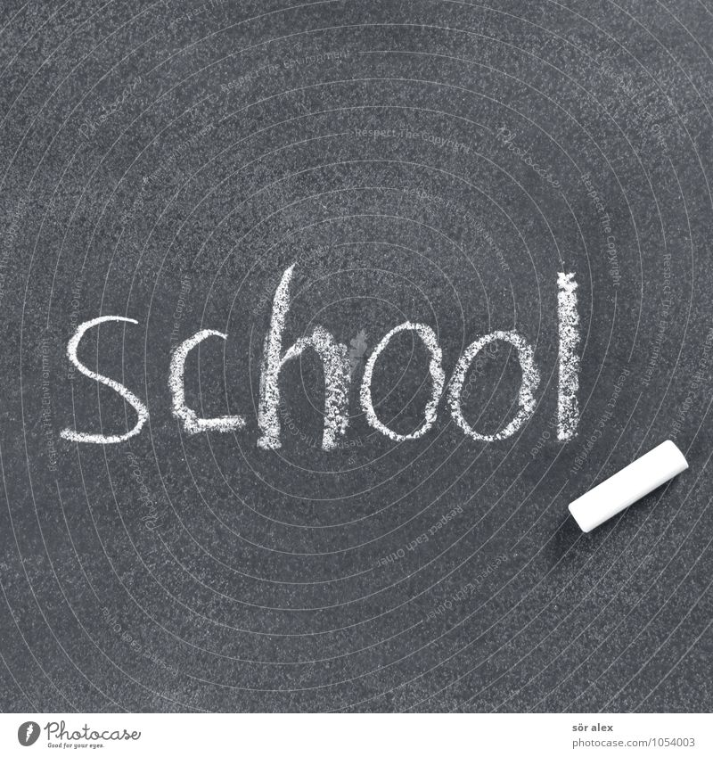 holidays Education Science & Research School Study Blackboard Schoolchild Student Teacher Career Success Sign Characters Chalk Black & white photo Interior shot