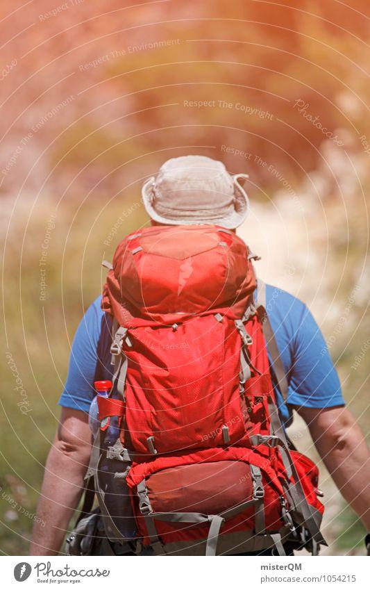 Warrior I Art Adventure Esthetic Hiking Adventurer Backpack Backpacking Backpacking vacation Walking Spain Serra de Tramuntana Heavy Warmth Loneliness Idyll