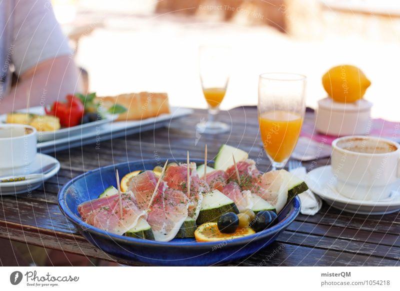Healthy Eating Food Esthetic Nutrition Table Delicious Appetite Majorca Breakfast Snack Vacation photo Melon Ham Vacation mood Orange juice Breakfast table