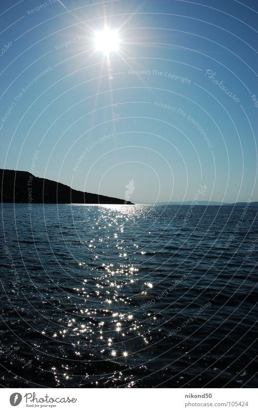 ocean Ocean Summer Vacation & Travel Physics Sun Croatia Water Blue Sky Warmth reflection