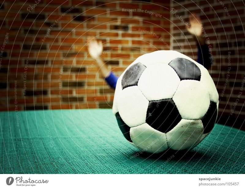 Hand White Joy Black Sports Wall (building) Playing Soccer Funny Arm Ball Round Leisure and hobbies Athletic Leather Whimsical