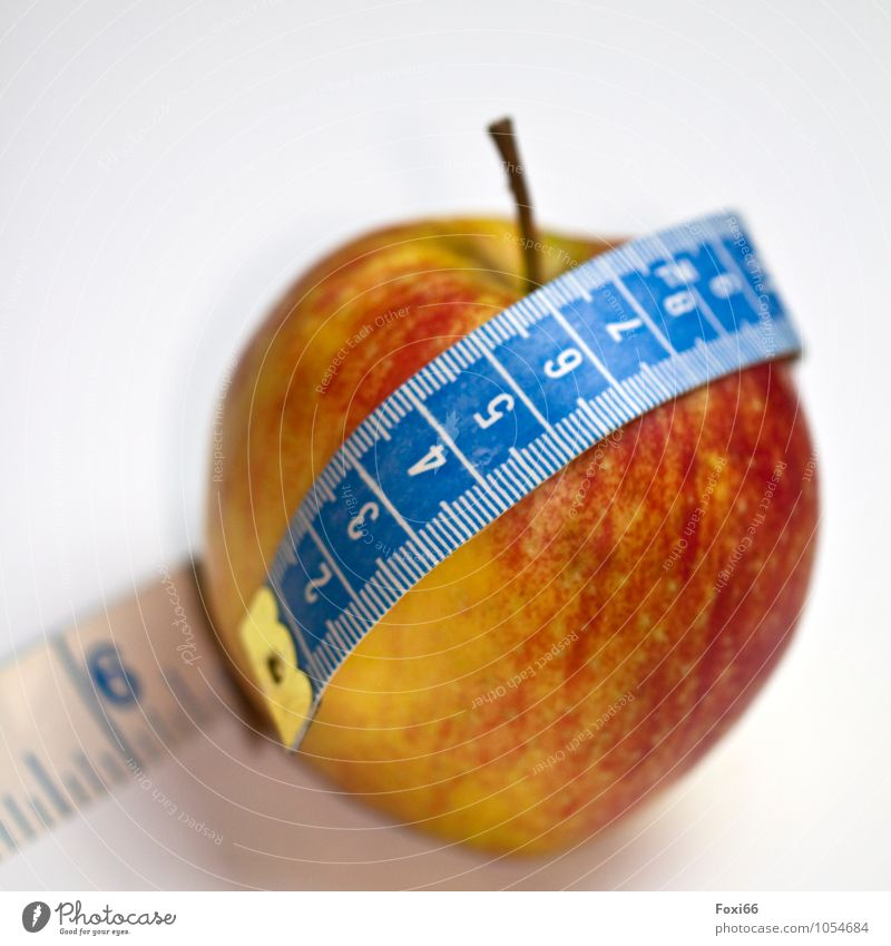 Lent Food Fruit Nutrition Organic produce Vegetarian diet Diet Fasting Healthy Healthy Eating Fitness Overweight Metal Plastic Apple Tape measure Fresh