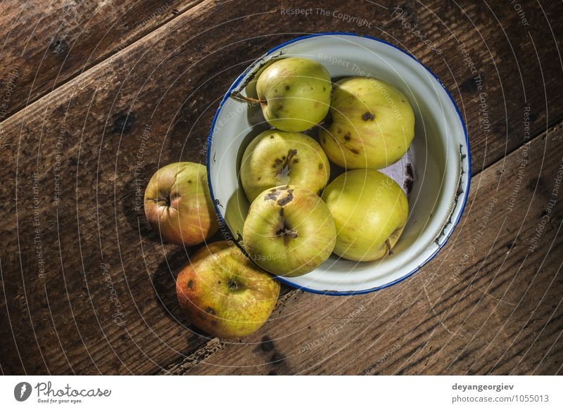 Apples in vintage metal cup on white wooden table Fruit Diet Table Thanksgiving Nature Autumn Old Fresh Delicious Natural Juicy Red food Basket fall background