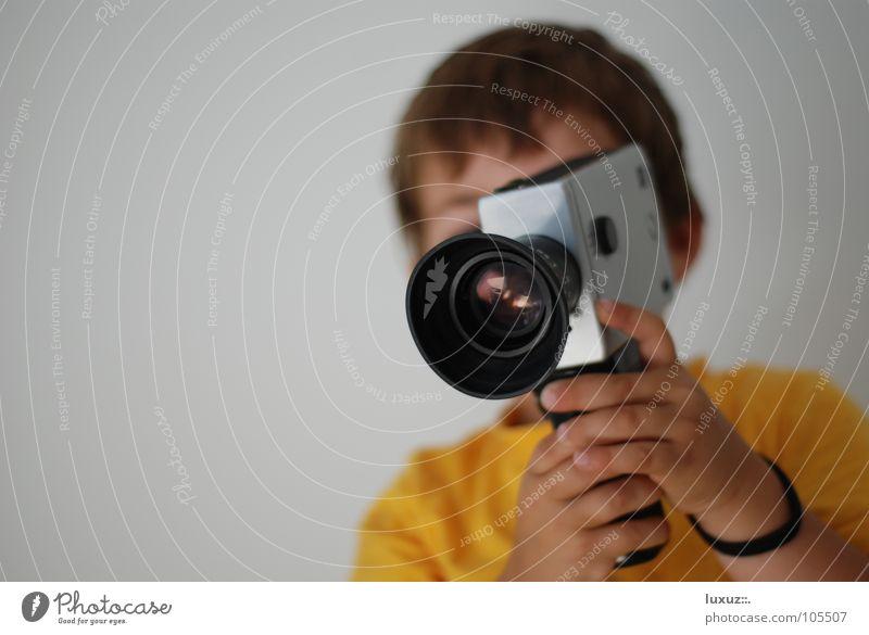 Beautiful Yellow Style Art Film Film industry Vantage point Television Camera To hold on Cinema Video camera Noble Lens Binoculars Vista