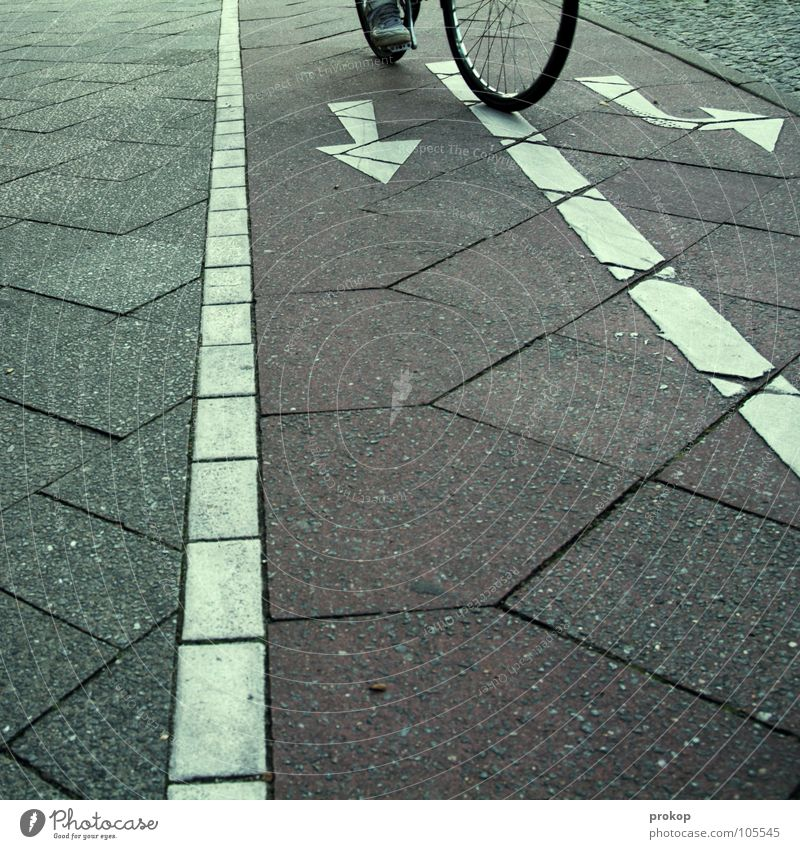 Street Movement Lanes & trails Bicycle Transport Sign Concentrate Ask Cycling Left Right Fork Skeptical Resolve Insecure Street sign