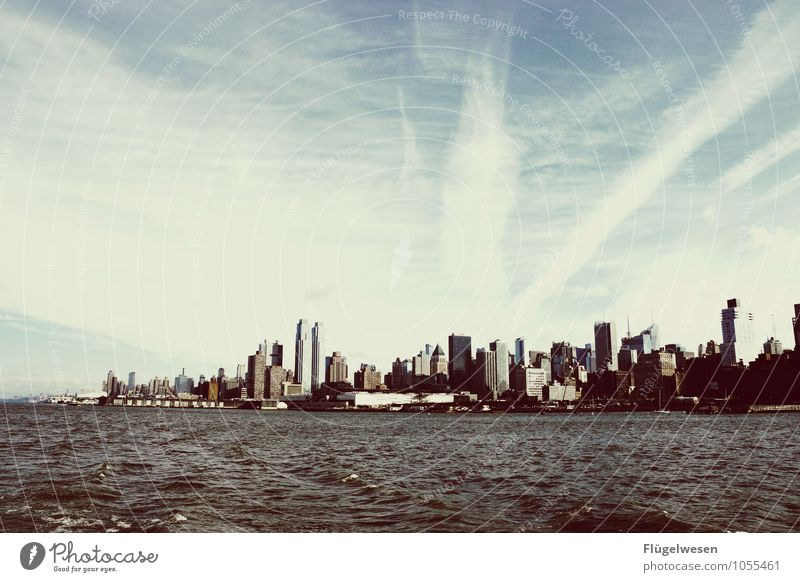 City of New York Skyline h) Vacation & Travel Tourism Trip Far-off places Freedom Sightseeing City trip Overpopulated High-rise Manmade structures Building