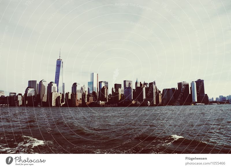 City of New York Skyline j) Vacation & Travel Tourism Trip Far-off places Freedom Sightseeing City trip Overpopulated High-rise Manmade structures Building
