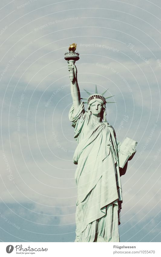 Woman v. Freedom Vacation & Travel Tourism Trip Adventure Far-off places Sightseeing City trip Tourist Attraction Landmark Monument Statue of Liberty Discover