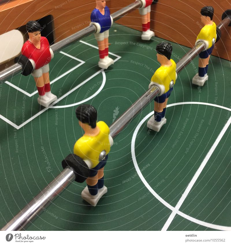 Kick it like ... Joy Children's game Sports Ball sports Team Masculine Androgynous Man Adults 6 Human being Decoration Kitsch Odds and ends Wood Metal Plastic