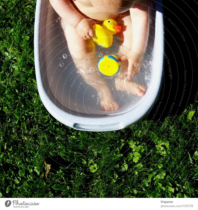 Child Water Green Girl Summer Joy Meadow Warmth Grass Garden Baby Swimming & Bathing Sweet Bathroom Wellness Lawn