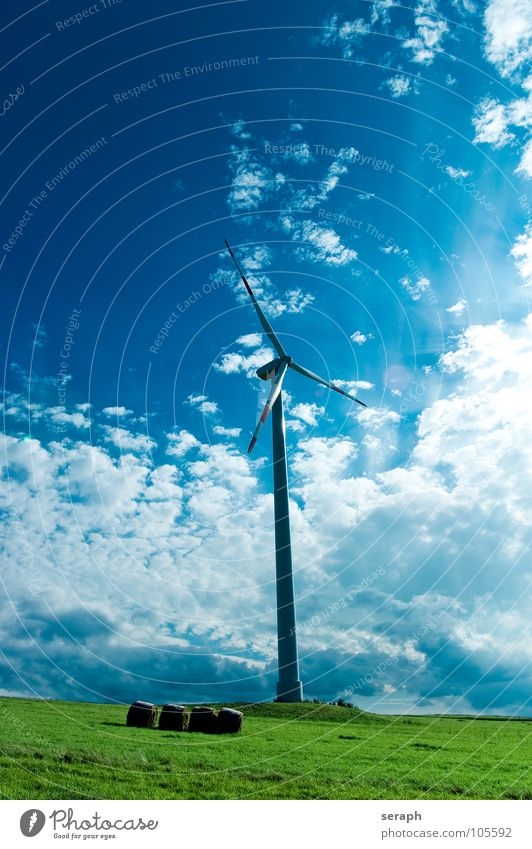 Clean Energy Sky Environment Energy industry Modern Wind Electricity Technology Wing Wind energy plant Construction Ecological Environmental protection