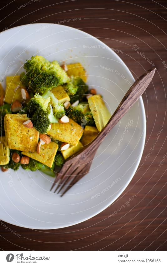 Healthy Fresh Nutrition Vegetable Delicious Lunch Vegetarian diet Fork Vegan diet Broccoli Tofu