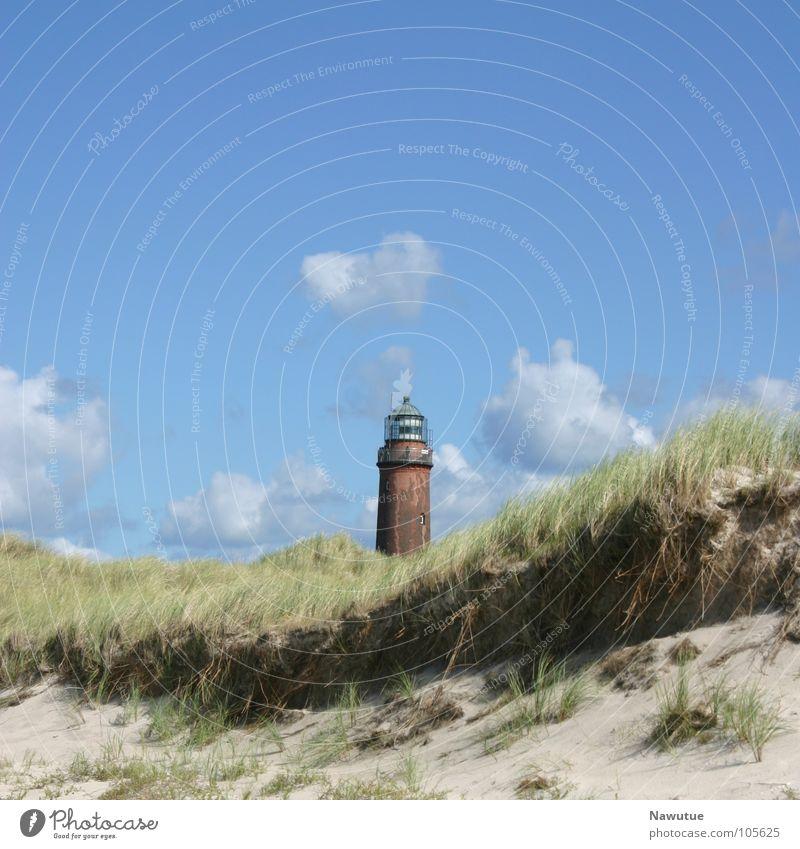 Nature Summer Beach Coast Beach dune Lighthouse Baltic Sea Darss Prerow Western Beach Fischland