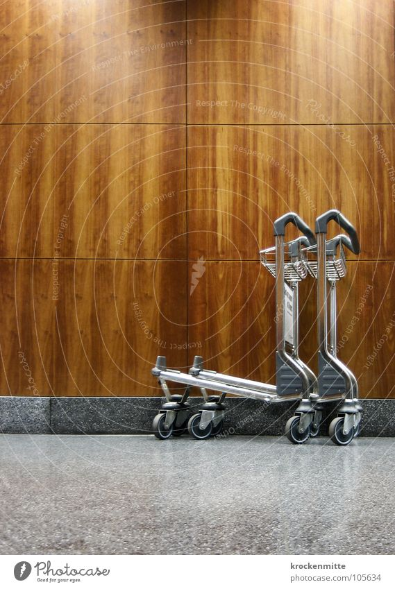 chariot Wood Wooden wall Vacation & Travel Luggage Gray Airport Wheel baggage car holiday vacation Tile Metal marbled Floor covering