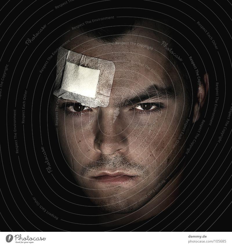 Man Black Face Dark Hair and hairstyles Fear Nose Ear Lips Anger Pain Facial hair Edge Fight Panic Aggravation