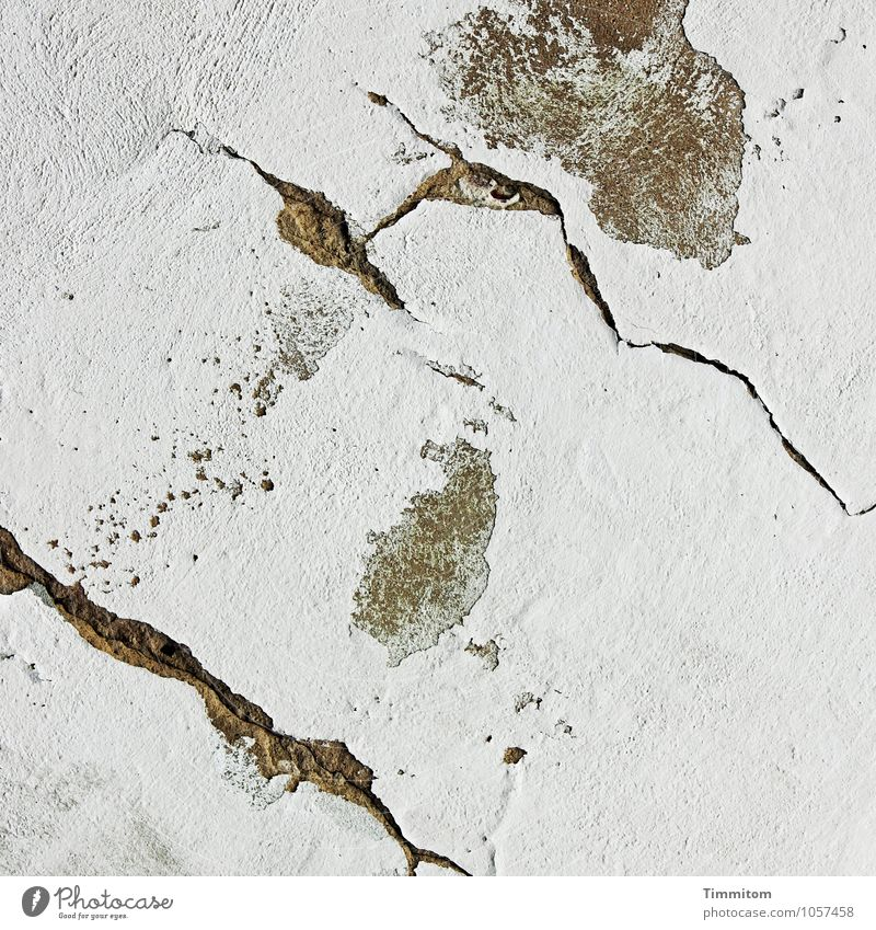 It's a matter for the boss. Wall (barrier) Wall (building) Line Esthetic Simple Brown Black White Abstract Crack & Rip & Tear Structures and shapes Plaster