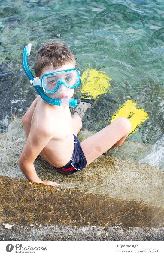 Vacation & Travel Summer Sun Ocean Joy Beach Boy (child) Leisure and hobbies Fear Infancy Trip Fitness Adventure Thin Risk Serene